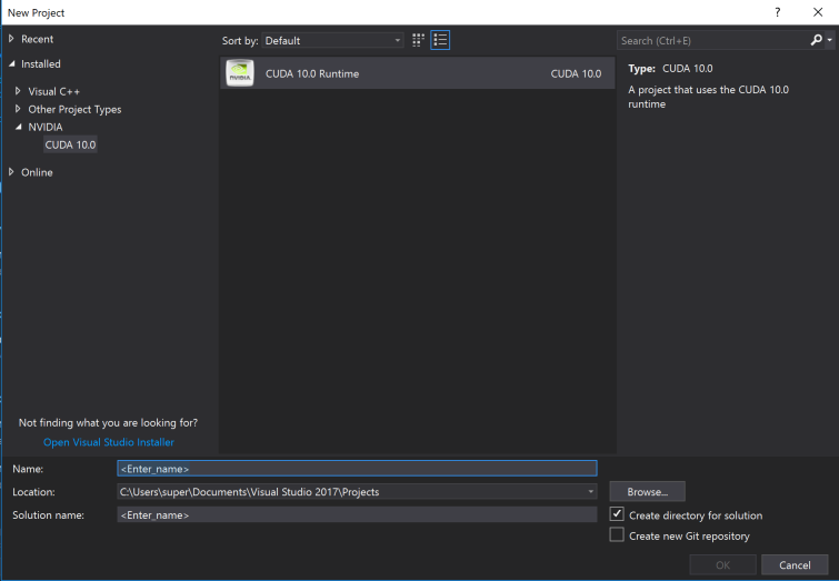 Ray Tracing with CUDA on Windows 10